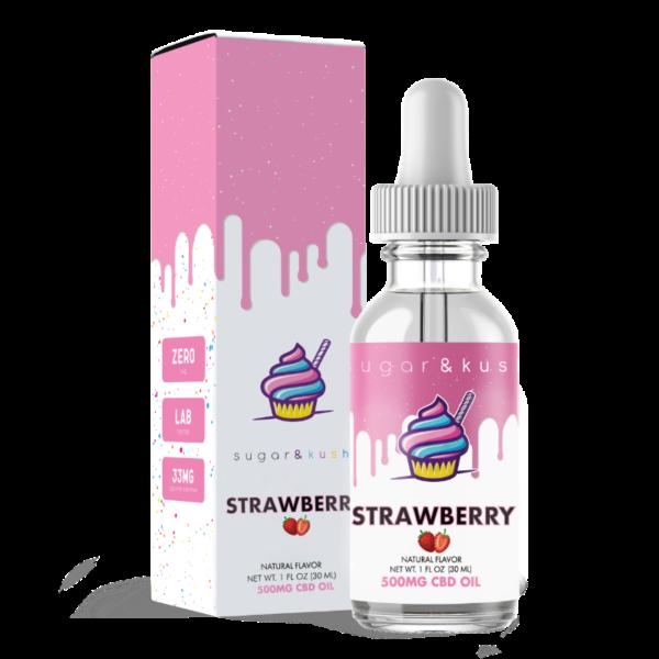 Sugar & Kush CBD Oil Drops - Strawberry