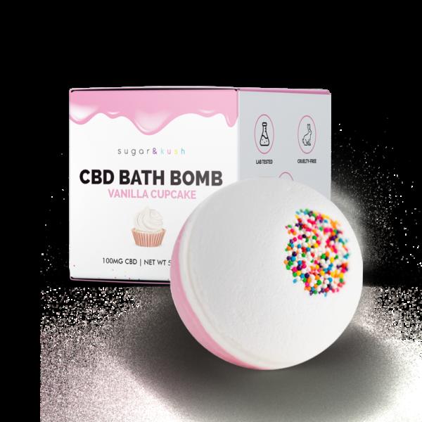 Sugar & Kush CBD Bath Bomb - Vanilla Cupcake