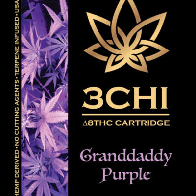 Delta 8 3 Chi cart Granddaddy purple