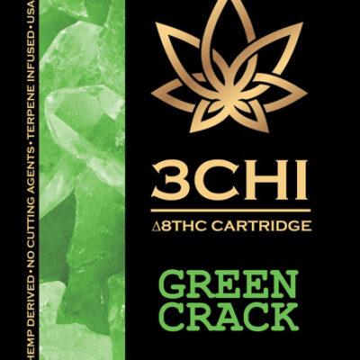 3 chi Green Crack Vape Cart delta 8 THC