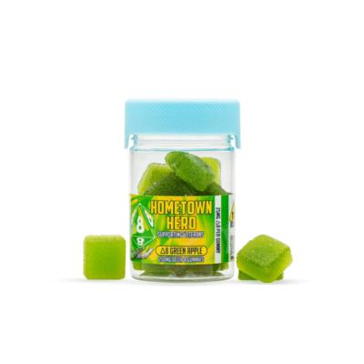 HomeTownHero Delta 8 Green Apple Gummies